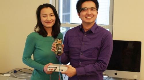 Xia Zhou with student